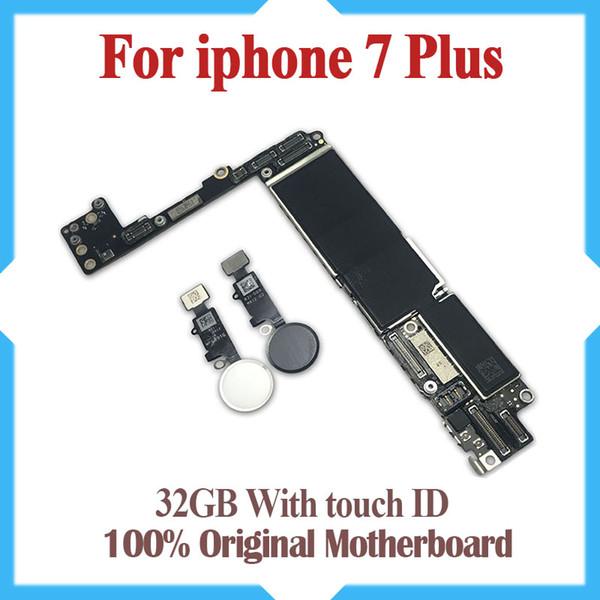 Placa base de 32 gb para iPhone 7 Plus con Touch ID, Original desbloqueado para las placas lógicas iphone 7 Plus con sistema IOS, buen funcionamiento