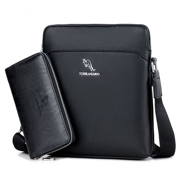 Famous Brand Kangaroo Men Vertical Shoulder Bags Male Fashion Travel Bags Casual Laptop Crossbody Bag For Men Messenger