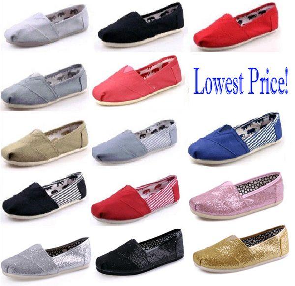 Dorp nakliye SICAK Toptan Yeni Marka Kadın ve Erkek Moda Sneakers Tuval Ayakkabı tom ayakkabı makosenler Flats Espadrilles ayakkabı Boyut 35-45