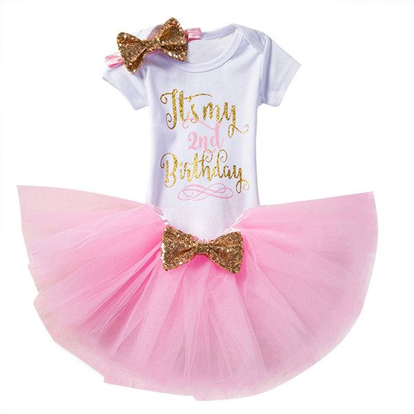 1 Year Birthday Dress for 1st First Baby Kid Girl Birthday Clothing Infant Princess Baby Girl Dress Party Tutu Christmas Ourfits