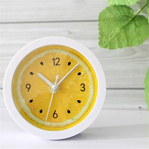 E5 electronic desk clock flip clock masa saati saat reloj Colorful Round Shape Mini Quartz Desktop Plastic Needle Alarm B