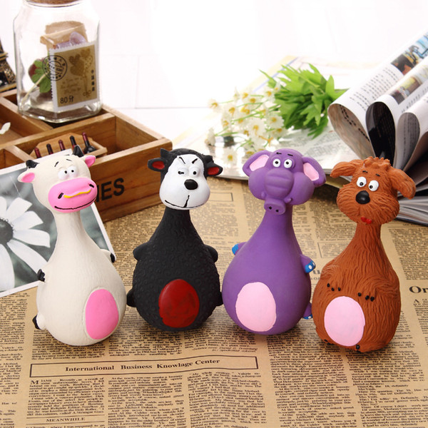 Pet Squeaky Chewing Toys Cat Dog Phonation Latex PetsToy Lovely Cartoon Anti Bite Toys Molar Tool Home Decor AAA832