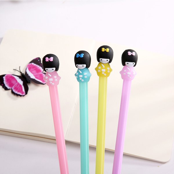 Cute Candy Color Gel Pen Canetas Kawaii Japanese Gril Pens For Writing Kids Gift Korean Stationery Office School Supplies