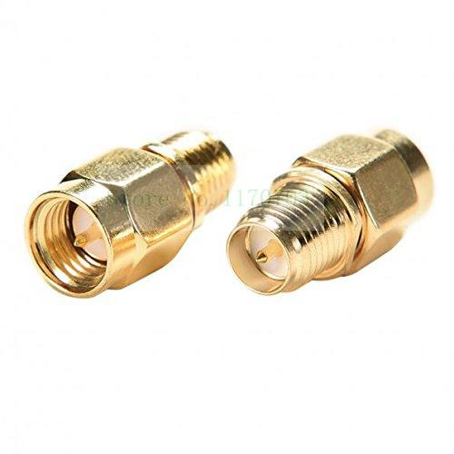 50 pcs RF coaxial coax adapter SMA Male to RP SMA Female Connector Plug
