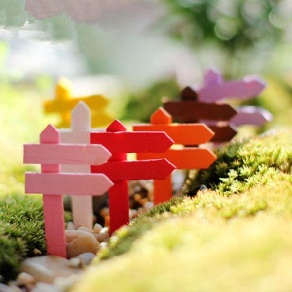 Mini Miniature Clôture En Bois Signpraft Artisanat Décor De Jardin Ornement Plante Pot Micro Paysage Bonsaï DIY Dollhouse Fée jc-295