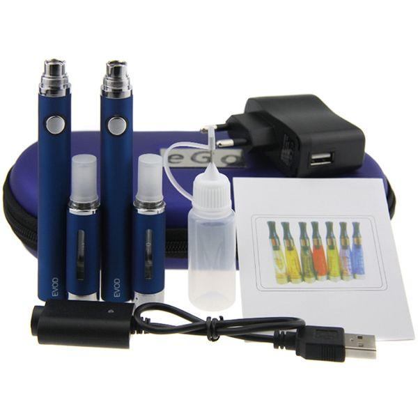 EVOD MT3 Doppel Kits Starter Kit mit 2 EVOD Batterie 2 MT3 Zerstäuber E Zigarette EVOD MT3 Reißverschluss Fall Kit