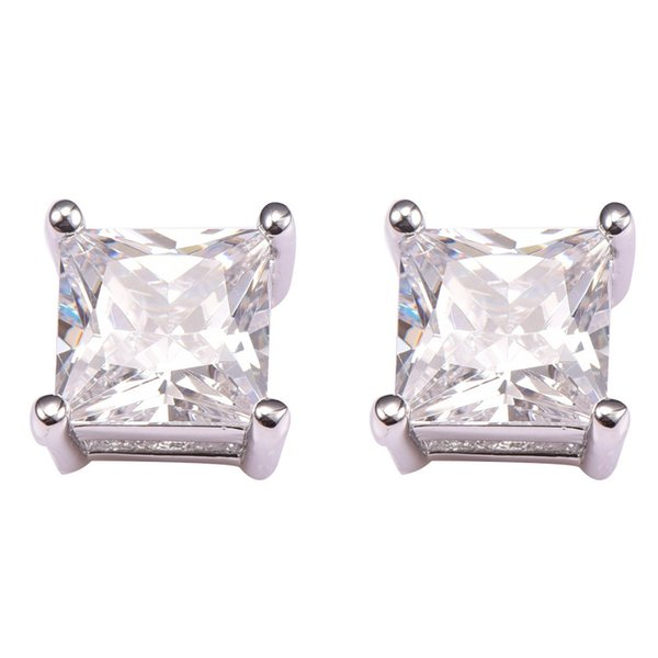 925 New Arrival White Crystal Zircon Women 925 Sterling Silver Free Shipping Newest Fashion Jewelry Earrings PE41