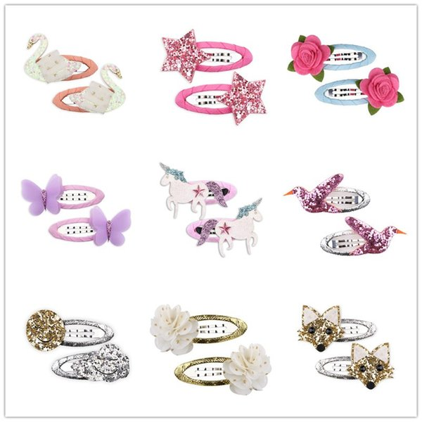 2018 Cute Cartoon Children Hair Clips Bobby Pins Baby Girls Hairpins Accessories For Hair Barrette Hairclip Hairgrip Headdress
