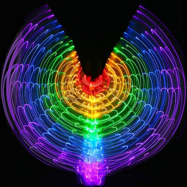 S002 LED Isis Wings Belly Dance Club Light Show Costume Egyptian Wings Colourful