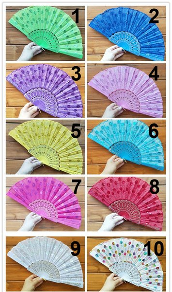 High Quality Golden Fan with Tassel For Gift Female Dancing And Party Decoration Free Shipping