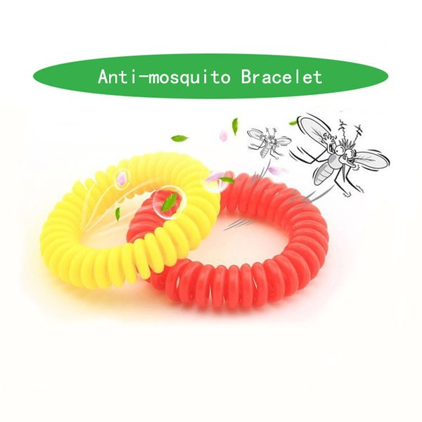 top popular In Stock Anti-mosquito Bracelet Mosquito Repellent Phone Ring Summer Natural Plant Oils Phone Strap Elastic Spiral Hand Wrist Free DHL 2019