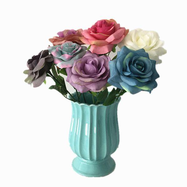 4 pçs / lote 2018 Rosas De Seda Artificial Flor Stem Para O Casamento Dos Namorados Mobiliário Doméstico Fotografia Decoração Frete Grátis
