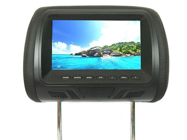 7 pulgadas de reposacabezas de cuero del coche DVD Monitor para Honda Toyota BMW Audi Benz Nissan Mitsubishi Hyundai Jaguar Auto Pillow reposacabezas Monitor