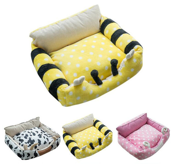 Cartoon Pet Cat Kitty Bed House Warm Puppy Mini Pet Dog Bed Chihuahua Yorkshire Bed Dog Mat Kennel