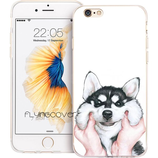 Fundas Siberian Husky Dog Clear Soft TPU Silicone Phone Cover for iPhone X 7 8 Plus 5S 5 SE 6 6S Plus 5C 4S 4 iPod Touch 6 5 Cases.