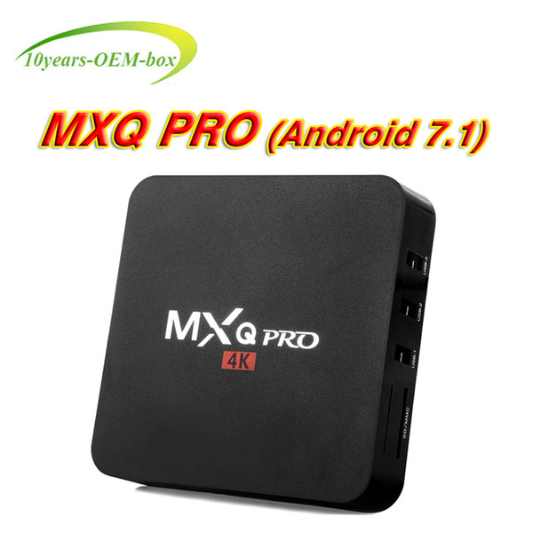 Android 7.1 MXQ PRO 4K tv boxes Cheapest RK3229 Quad-Core 1GB 8GB Smart Tv Box WiFi 3D HDMI TV Cheap Set-top Box Media Player
