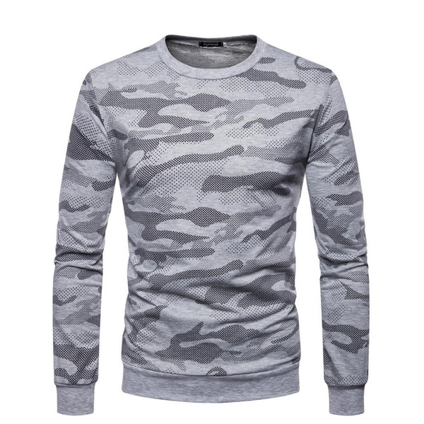 Mens Designer T-shirts Sport Plus La Taille Camo Slim Fit Top À Manches Longues O Cou Automne Mode Vêtements Casual