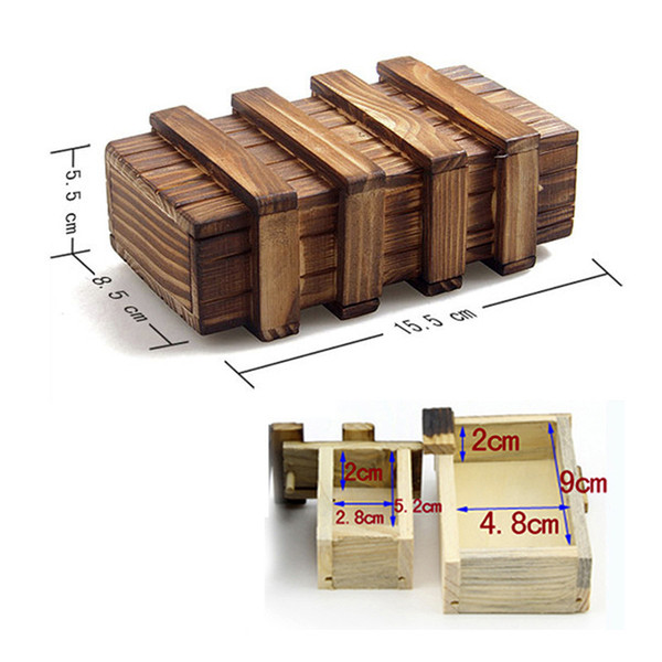 top popular Magic Compartment Wooden Puzzle Box With Secret Drawer Baby Brain Teaser Educational Toys for Children Kids Gift Secret Box 2021