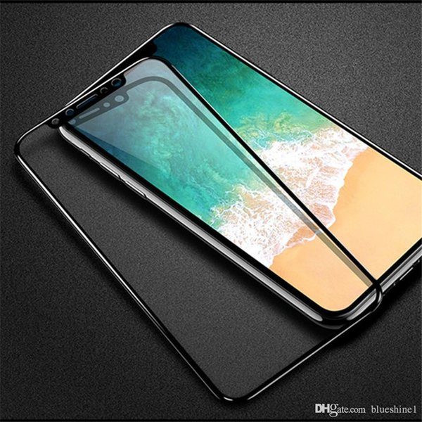 New Iphone XS 3D Screen Protector Tempered Glass For iPhone XR Edge Full Cover For iPhone X Toughened Protective Glass Film