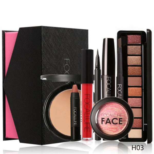 6pcs/8Pcs Cosmetics Makeup Set Powder Eye Makeup Eyebrow Pencil Volume Mascara Sexy Lipstick Blusher Tool Kit
