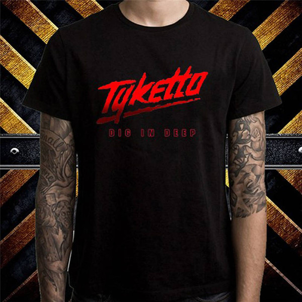 T Shirts Male Low Price Steampunk Fashion 2018 Tyketto Hard O-Neck Short-Sleeve Tees For Men