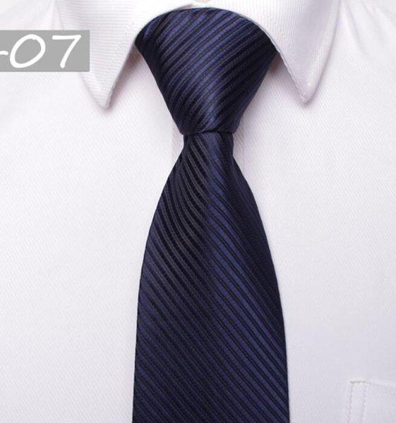 Homens gravatas gravatas homens clássicos de negócios formais gravata de casamento 8 cm tarja pescoço gravata moda camisa vestido acessórios