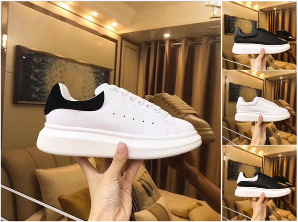 Luxury Popular Flat Shoes Easy Walking Daily Wear Party White Casual Shoes Sneaker Lace Up Leather Back Shoe For Women Men