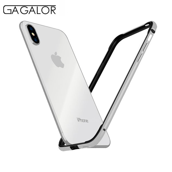 """wholesale phone case metal bumper for iPhone XS MAX 6.5"""" ultra thin silicone lining for iPhone MAX aluminium alloy black"""