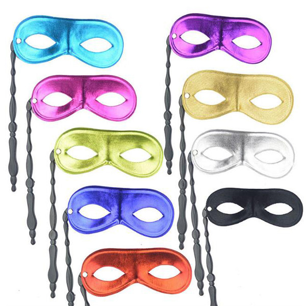 New Men Women's Creative Halloween Masquerade Ball Masks with Sticks Party Favor Dress Up Prince Masks Half Face Eye Masks