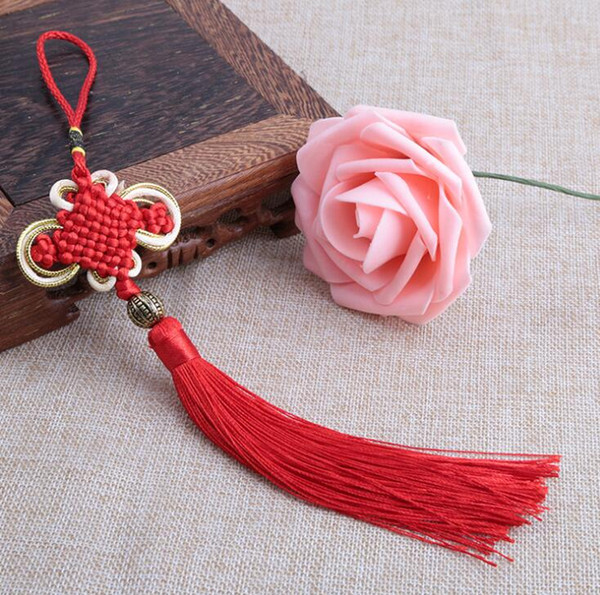 DIY accessories Chinese style household decorate gifts Pure handmade gold edge Bianfu your Chinese knot pendant free shipping FD10