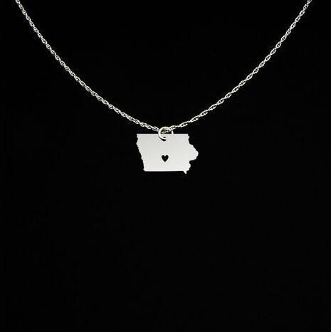 Iowa Halskette jede Worte können angepasst werden hochwertige Kupfer Iowa Schmuck beste Geschenk für Männer und Frauen YP4089