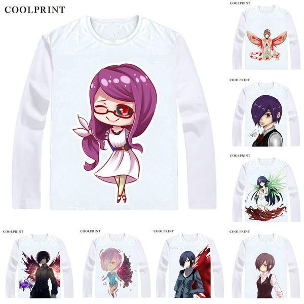 Tokyo Ghoul Tokyo Guru Jack re Pinto T-Shirts Long Sleeve Shirts Anime Manga Toka Kirishima Rize Kamishiro Hideyoshi Nagachika Cosplay Shirt