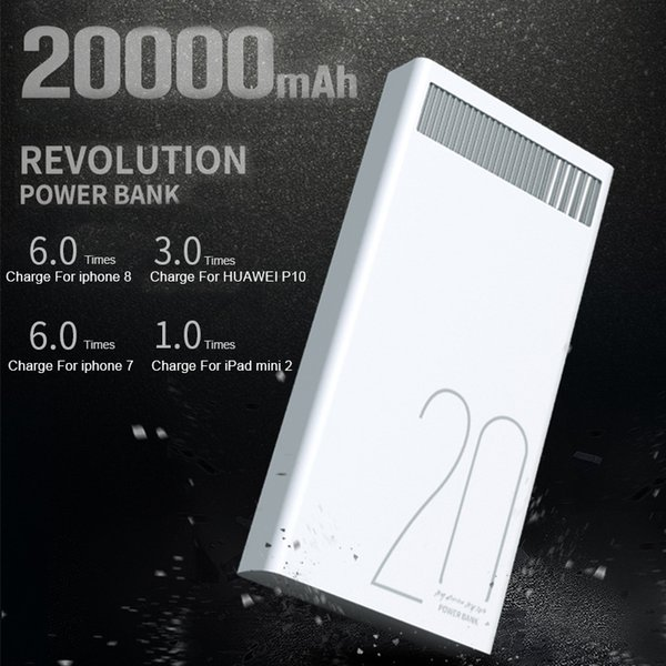 Remax 2.4A 20000mAh Quick Charge Power Bank Polymer Battery Dual USB Charging for Xiaomi Samsung Tablets 20000 mah powerbank
