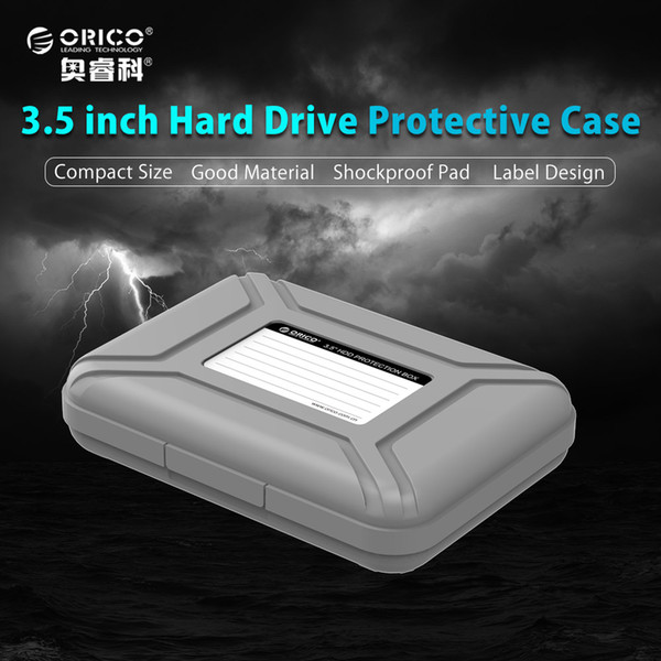 """ORICO HDD Protection Box 3.5"""" Waterproof Case Cover for HDD with Eva Shockproof Pad 5 pcs/set"""