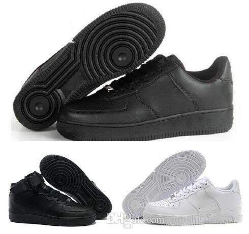 2018 yeni stil Rahat Yeni Kuvvetler Beyaz siyah Düşük Yüksek Kesim Mens Kadınlar açık yürüyüş Ayakkabıları Klasik Erkekler ayakkabı