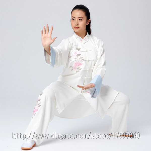 Chinese Tai chi clothes Kungfu uniform Taijiquan sword garment Qigong outfit Linen Fabric for women men girl boy children adults kids