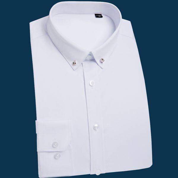 Popular Handsome Long Sleeve Comfortable Camisa Masculina Oxford Formal Casual Suits Slim Fit Shirt Men Blouse Men Shirt
