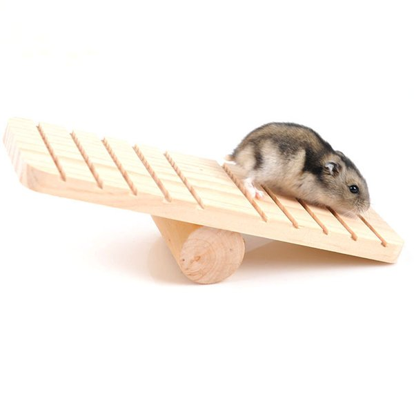 Small Pet Toy Rabbit Guinea Pig Chinchilla Hamster Seesaw Totoro Teeterboard Wooden Interactive Teetertotter Cage Accessories