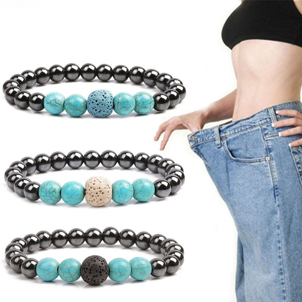 Fashion Weight Loss Bracelet Health Care Slimming Black Gallstone Fat Reduction Magnetic Therapy Product Healthy Care