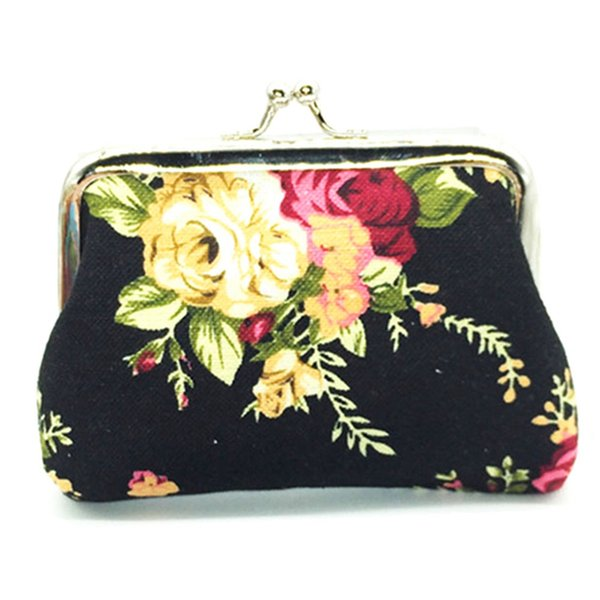 Naivety Hasp Coin Purse New Women Retro Small Wallet Lady Vintage Flower Clutch Bag Floral Gift Bags