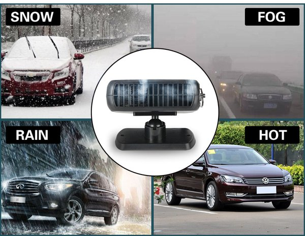 New Car Heater Heating Fan 2 in 1 12V 150W Dryer Windshield Demister Defroster For Vehicle Portable Temperature Control Device (Retail)