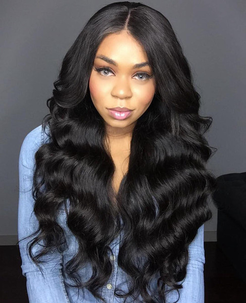 Lace Frontal Wigs Pre Plucked With Baby Hair Full Brazilian Body Wave Human Hair Lace Front long Wigs For Black Women