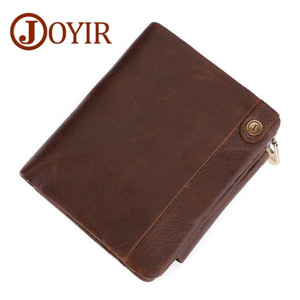 800fa90bea070c Großhandel Echtes Leder Männer Brieftaschen Vintage Trifold Brieftasche  Reißverschluss Münzfach Geldbörse Rindsleder RFID Mappe Für Herren