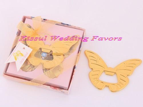 (20 Pieces/lot) Wedding gifts for guests of Gold Butterfly Bottle Opener Favors for Bridal showers and Gold wedding souvenirs