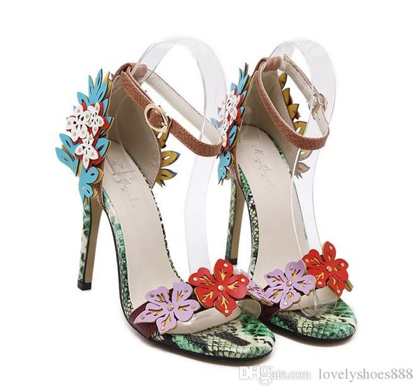 sexy brand name free shipping summer wedding shoes heel 11cm fashion snake print lady shoes 480