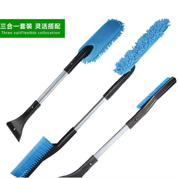 Brand New 3 In 1 Aluminium Alloy Car Snow Shovel,Ice Scraper,Frost Shaving