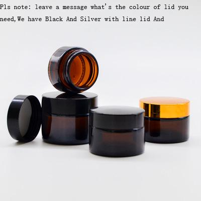 Cream Jar Empty Cosmetic Sample 5g 10g 15g 20g 30g Container Emulsion Refillable Pot Black Lid For Travel