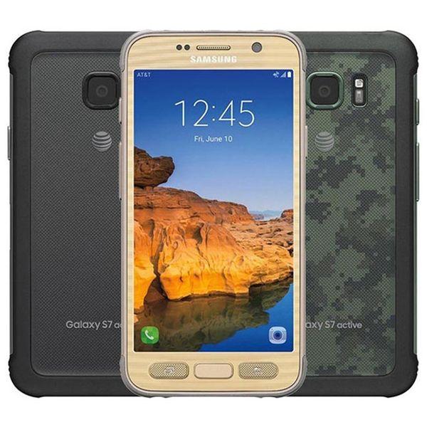 Refurbished Original Samsung Galaxy S7 Active G891A Rugged Phone 5.1 inch Quad Core 4GB RAM 32GB ROM 12MP Unlocked Smart Phone DHL 10pcs