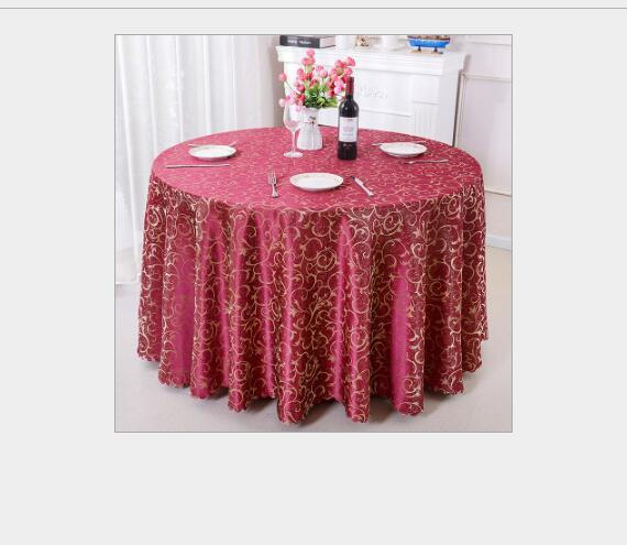 top popular Table Cloth Table Cover Round For Banquet Wedding Party Decoration Hotel Tables Fabric Table Wedding TableCloth Home Textile 2020