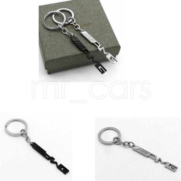 Porte-clés voiture voiture styling clé de voiture porte-clés AMG badge emblèmes de voiture pour Mercedes Benz A45 SLS AMG E63 GGA521